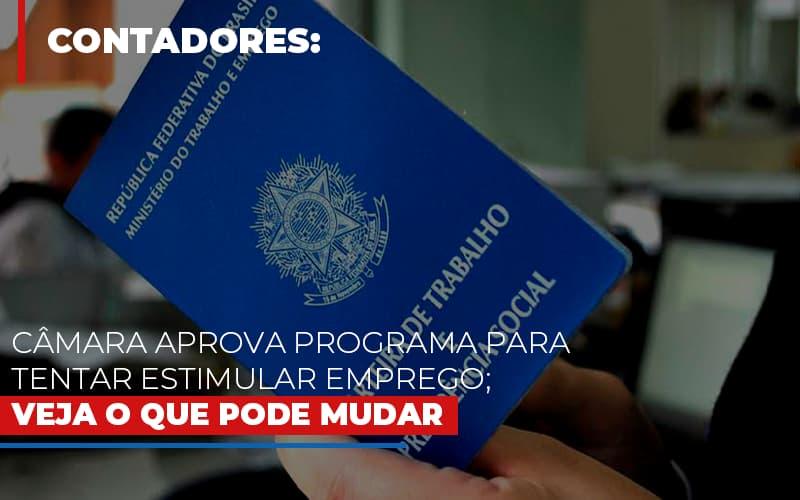 Camara Aprova Programa Para Tentar Estimular Emprego Veja O Que Pode Mudar - Contabilidade Em Florianópolis - SC | Audicor Auditoria E Contabilidade