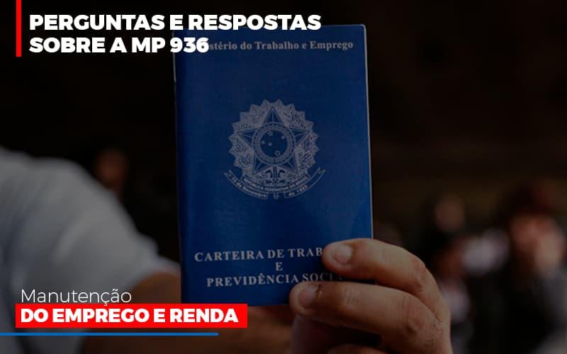 Perguntas E Respostas Sobre A Mp 936 Manutencao Do Emprego E Renda - Contabilidade Em Florianópolis - SC | Audicor Auditoria E Contabilidade